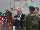 Miloš Zeman na pražském Vítkově (8. května 2013)