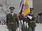 Vojáci na pražském Vítkově si připomněli konec 2. světové války. (8. května