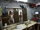 Továrna na šití oblečení v bangladéšské Dháce