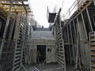 Budoucí prostor pro eskalátory z nástupiště stanice Nádraží Veleslavín