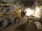 Budoucí technické prostory pod nástupištěm v ražené části stanice Nádraží...