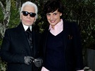 Ines de la Fressange byla Lagerfeldovou múzou po mnoho let, dodnes se přátelí.