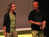 Choreografové (zleva) Igor Vejsada, Philippe Talard a Eric Trotier na zkoušce