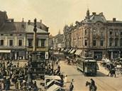 Dnešní ostravské Masarykovo náměstí bylo s provozem tramvají nerozlučně spjato