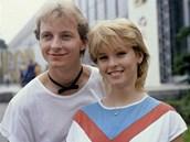 Petr Sepéši a Iveta Bartošová v roce 1985