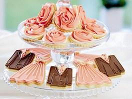 Máslové svatební sušenky s vanilkou