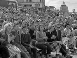Haškova Lipnice se vždy těšila velkému zájmu návštěvníků. Tengto snímek je z