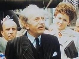 Vladimír Šmeral jako Zdeněk Nejedlý ve filmu Skřivánci na niti