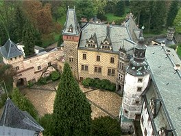 Vyhlídka z ochozu věže frýdlantského hradu