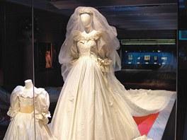 Svatební šaty princezny Diany na výstavě Diana: A Celebration