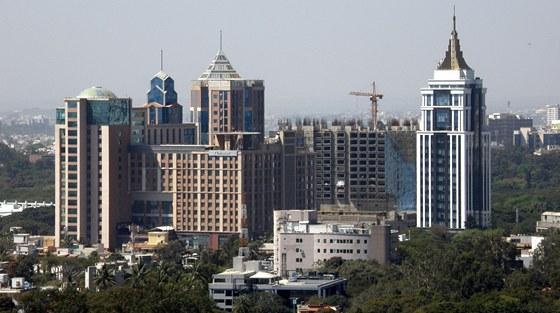 Pohled na moderní část města Bengalúr