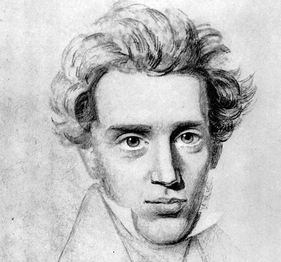 Skica Sorena Kierkegaarda od Nielse Christiana Kierkegaarda, cca 1840