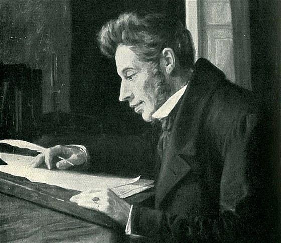 Soren Kierkegaard na obraze Luplaua Janssena, XIX. století