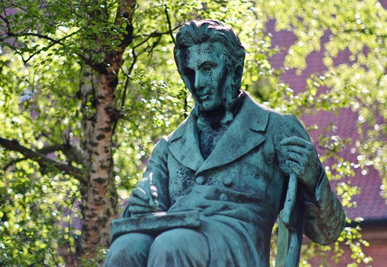 Pomník Sorena Kierkegaarda v Kodani