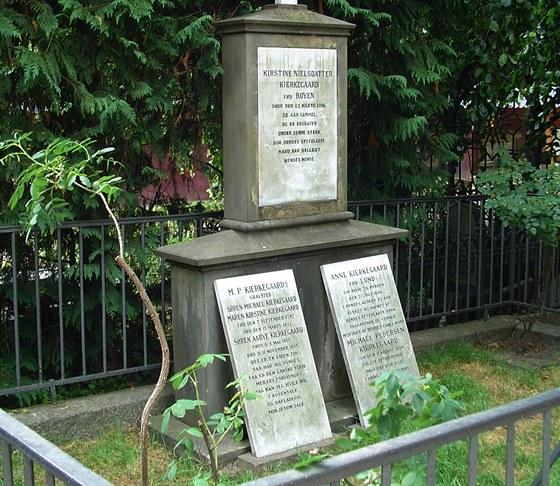 Hrob, v němž je pohřben i Soren Kierkegaard