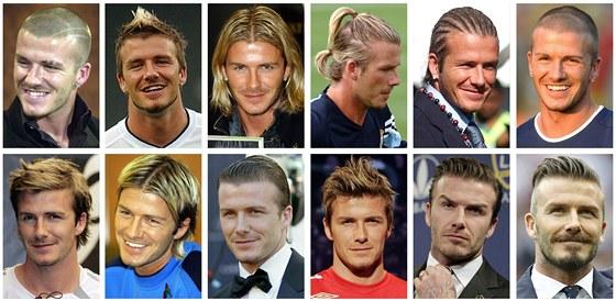 Účesy Davida Beckhama.