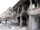 Následky výbuchů v tureckém městě Reyhanli (11. května 2013)