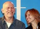John Malkovich a Ingeborga Dapkunaite na tiskov� konferenci v r�mci hudebn�ho