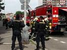 Požár bytu v Radomské ulici v pražských Bohnicích.
