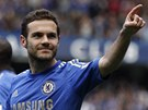 ST�ELEC. Juan Mata, �pan�lsk� z�lo�n�k Chelsea, slav� sv�j z�sah v duelu s