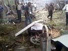 Agentury od počátku dávaly exploze do souvislosti s boji v sousední Sýrii (11.