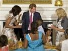 Princ Harry se během návštěvy USA setkal společně s první dámou Michelle