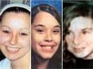 Unesené dívky (zleva) Amanda Marie Berryová, Georgina Lynn DeJesusová a