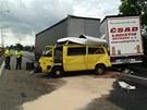 Nehoda na dálnici D1 na 190. kilometru.