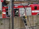 Únik plynu na pražském hlavním nádraží.