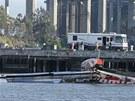 Loď Artemis Racing, jejíž nehoda se stala osudnou Andrewu Simpsonovi.