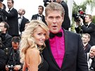 Hayley Robertsová a David Hasselhoff (Cannes 2013)