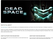 Online Pass pro hru Dead Space 2