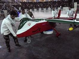 P�edstaven� nov�ho bezpilotn�ho letadla v Teher�nu (9. kv�tna 2013)