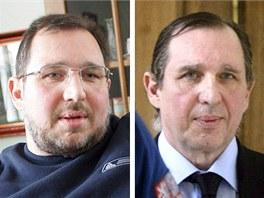 Petr Kott na sn�mku z dubna 2005 (vlevo) a dubna 2013.