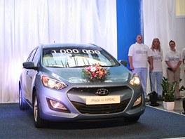 Z výrobní linky sjel miliontý vůz Hyundai vyrobený ve slezských Nošovicích.