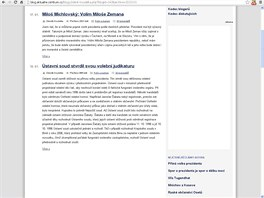 A takto vypadal blog Zdeňka Koudelky 10. května