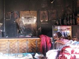 Požár bytu v činžovním domě v Hronově