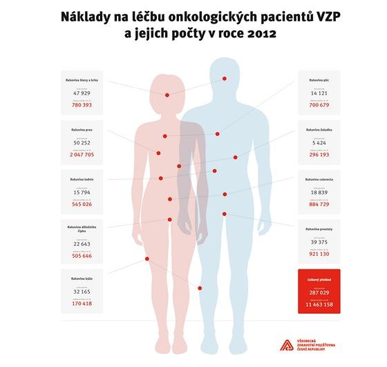 Přehled nákladů na léčbu onkologických pacientů