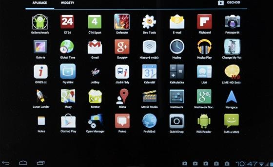 Rozhraní Android na běžném PC.