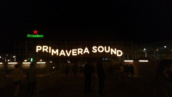 Vstupní brána festivalu Primavera Sound 2013