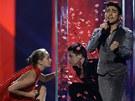 Ázerbájdžánský zástupce na Eurovizi Farid Mammadov (17. května 2013)