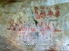 Nástěnné malby, které mexičtí vědci objevili v provincii Burgos (23. května