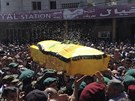 Pohřeb bojovníka Hizballáhu, který zahynul v bojích o syrské město Kusajr (20.