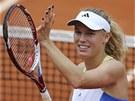 Caroline Wozniacká po výhře nad Laurou Robsonovou.