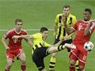 PÁLÍM ZE VŠECH POZIC. Hlavní útočná hrozba Dortmundu, Robert Lewandowski, pálil