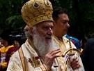 Téměř dvou a půl hodinovou svatou liturgii vedenou srbským patriarchou Irinejem
