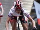 Tereza Huříková v závodě SP bikerek v Novém Městě na Moravě