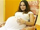 Alexandra Kiňová očekává narození paterčat. Byla počata přirozenou cestou.