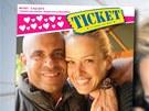 Laurent Lamothe a Petra Němcová na titulní straně magazínu Ticket
