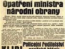 Květen 1938: Takto o mobilizaci z 21. května 1938 referoval o den později